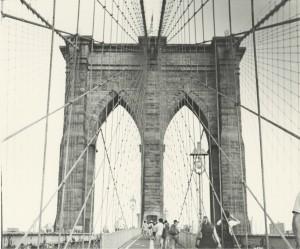 Brooklyin Bridge Caffenol Print